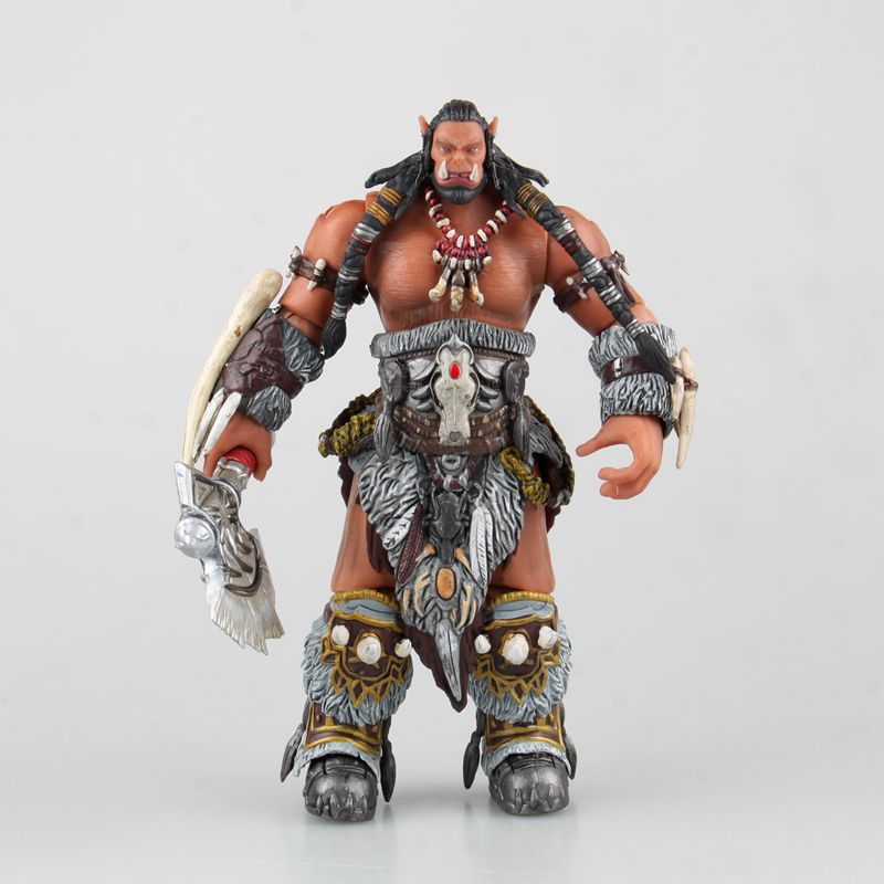 2016 New WOW Durotan Heroes of the Storm Game Team PVC Action Figure Resin Collection Model Toy Gifts Doll Cosplay Free shipping  legion illidan heroes of the storm pvc action figure collectible model toy 7 18cm kt1816