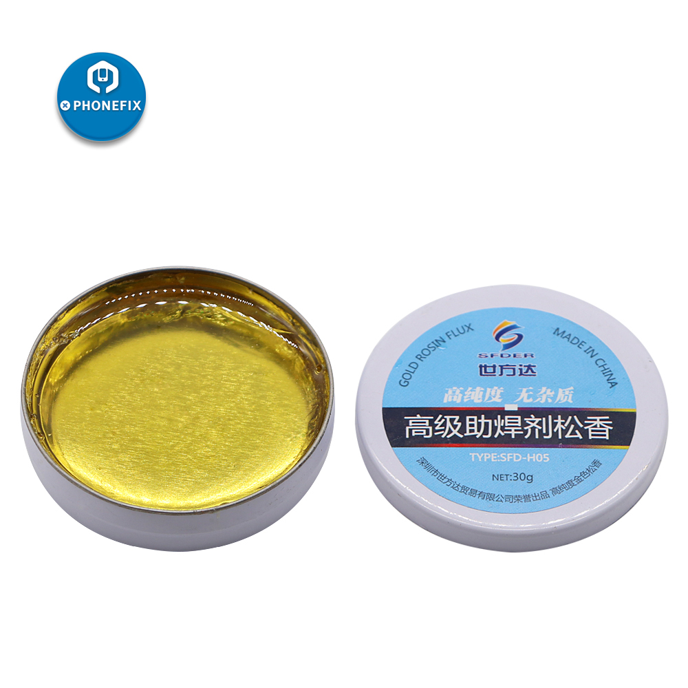 PHONEFIX 30g High Purity Rosin Flux Solder Facilitate Soldering Paste Flux For Motherboard Rework Station Welding Iron Repair