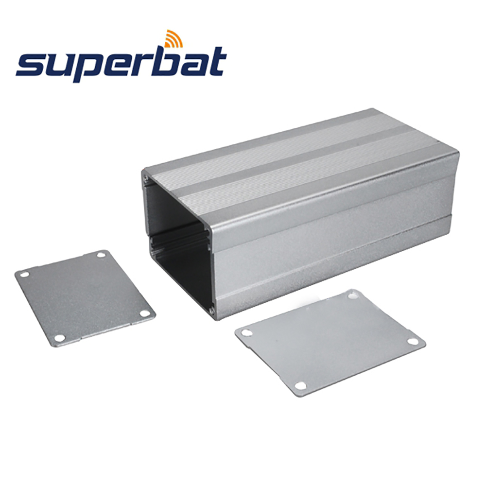 110mmX 51mmX38mm Silver Extruded Aluminum Box Instrument Enclosure Case 4.33″*2.01″*1.50″ for Electronic Project Amplifier PCB