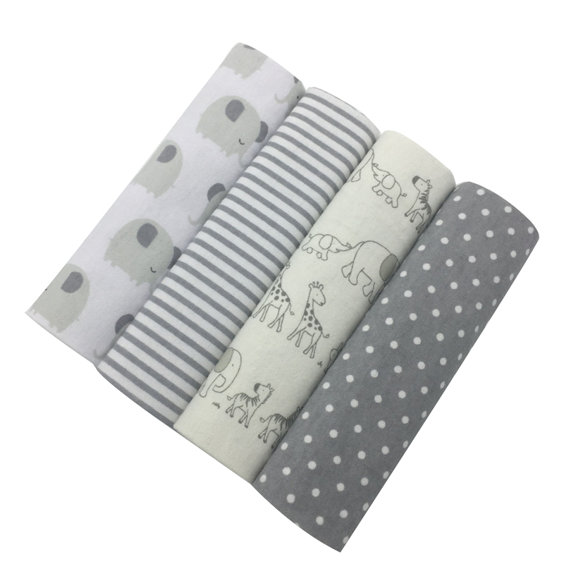 NEW Color 4PCS/PACK 100% Cotton Supersoft Flannel Receiving Newborn Baby Blanket Swaddle Baby Bedsheet 76*76CM Baby Blankets
