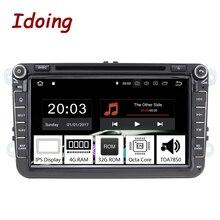 Idoing 8 «2Din Car Android 9,0 радио плеер для Volkswagen Skoda сиденья PX5 4 Гб + 32G Octa Core ips экран gps навигации мультимедиа
