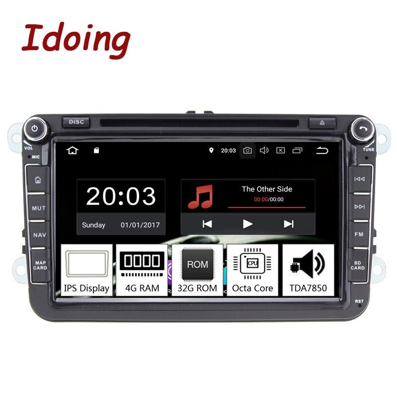 Idoing 8 2Din Voiture Android 8.0 Radio Lecteur Pour Volkswagen Skoda Siège PX5 4 gb + 32g Octa core IPS écran GPS Navigation Multimédia