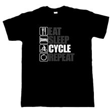 Eat Sleep Cycle Repeat, Mens Cycling T Shirt, Gift Dad Birthday, Harajuku Tops t shirt Fashion Classic Unique