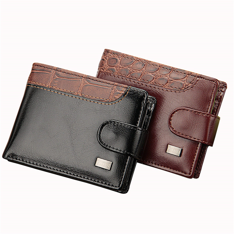 Fashion PU Leather Men Magnetic Hasp Wallet Luxury Money Coin Transverse Purse Card Holder Pocket Clutch Male Pouch Bag Carteras fashion baellerry men pu leather portable card holder organizer long wallet money coin purse male pocket pochette clutch bag
