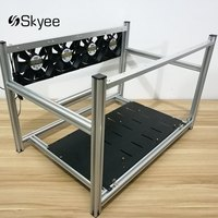 S SKYEE Non Stackable Open Air Mining Rig Frame Miner Case 4 LED Fan For 6