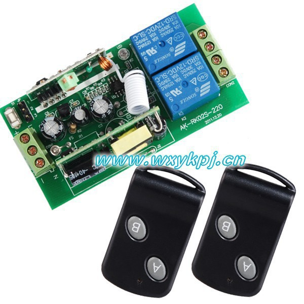 Free Shipping85V-250V Wide Range Output RF wireless remote control system 1 Receiver & 2 Transmitter switch livolo 85v 250v wide range output rf wireless remote control system 1 receiver