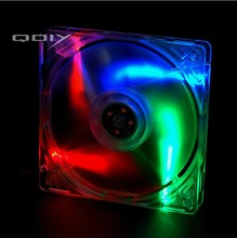 QDIY FZ-MS120C Personalized Computer Case's 120mm Matte Transparent Colored Lamp Cooling Fan