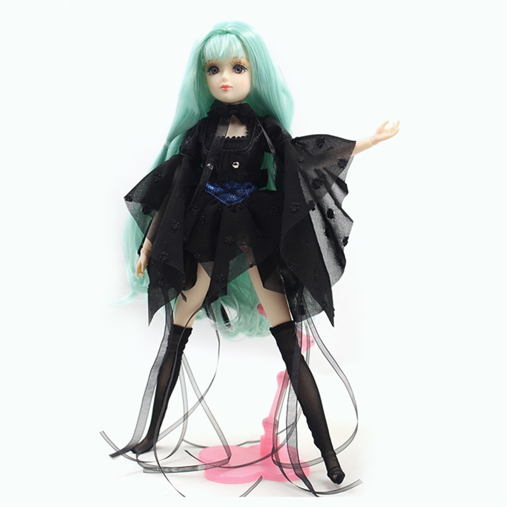 ICY Free shipping BLYTH bjd neo Fortune days cool doll Xiaojing JOINT body green hair dress box shoes stand toy gift цена и фото