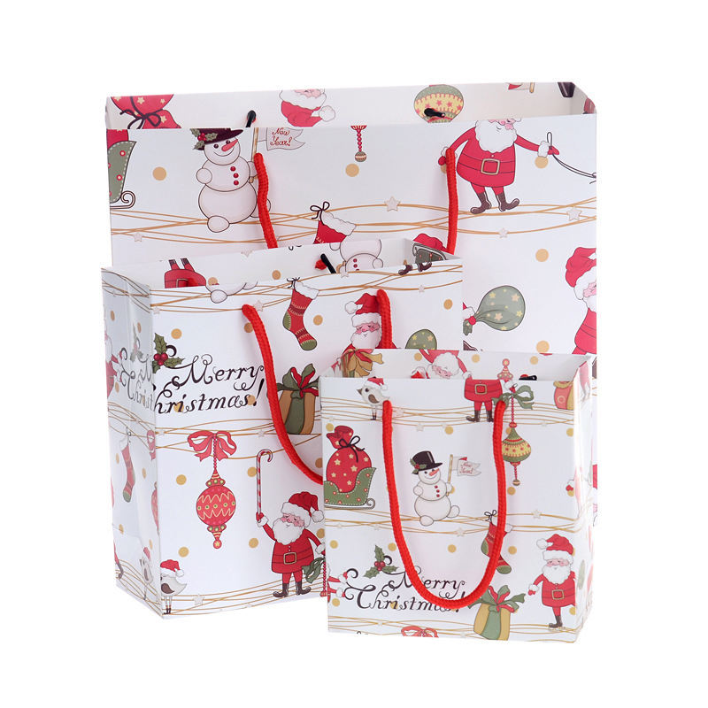 Wholesale Christmas Paper Gift Bags Cartoon Packaging ...