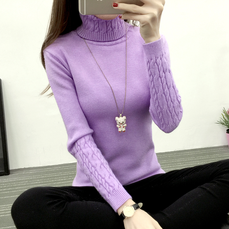 high quality Women Turtleneck Winter Sweater Women Cashmere Knitted Women Sweaters And Pullovers Female Jumper Tricot