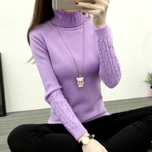 high quality Women Turtleneck Winter Sweater Women Cashmere Knitted Women Sweaters And Pullovers Female Jumper Tricot Tops(China)