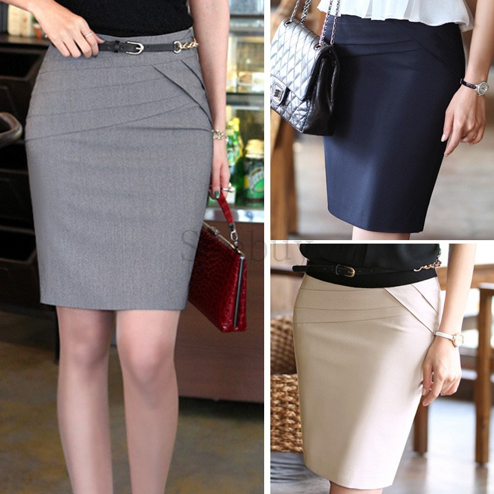 Fashion Las Skirts Womens High Waist Office Career Short Slim Hip Knee Length Pencil Skirt In From Women S Clothing Accessories On