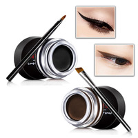 2pcs Box Eyeliner Cream Lasting Water Does Not Bloom Black Brown Combination Of Two Packages With