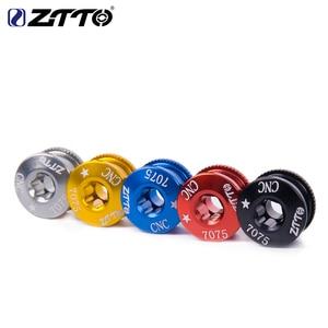 Ztto 5 peças para roda dentada de bicicleta, parafusos 7075 t6 liga de alumínio cnc mtb e roda dentada para peças de bicicleta parte