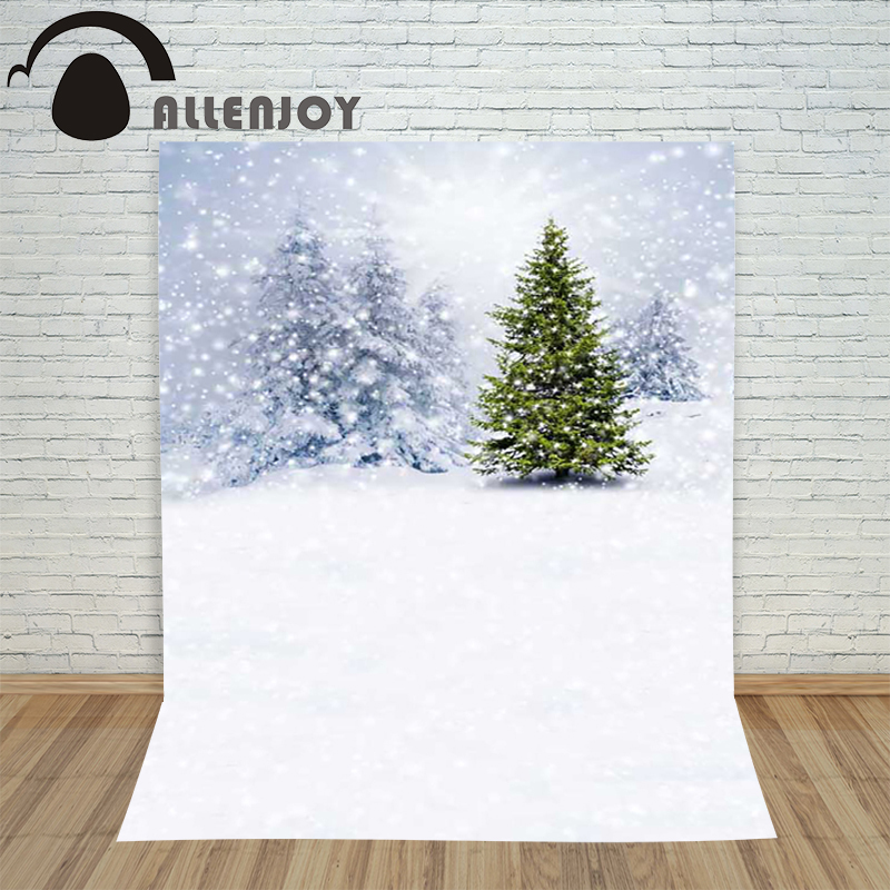 Christmas backdrop photography Allenjoy Forest light snowflakes in winter background photographic studio vinyl camera photo