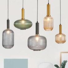 Nordic Restaurant Pendant Lights Glass L Hanging Lamp Bedroom Living Room Kitchen Suspension Luminaire