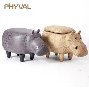 Image 5 - 2018 apressado nenhum novo puff poire taburetes cadeira de madeira fezes sapatos hipopótamo designer mobiliário sofá de armazenamento contendo moderno