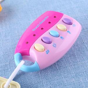 Image 4 - תינוק מוסיקלי רכב מפתח צעצוע ווקאלי חכם מרחוק רכב קולות מוסיקלי רכב מפתח צבעוני פלאש נשמע להעמיד פנים לשחק חינוך צעצוע עבור קי