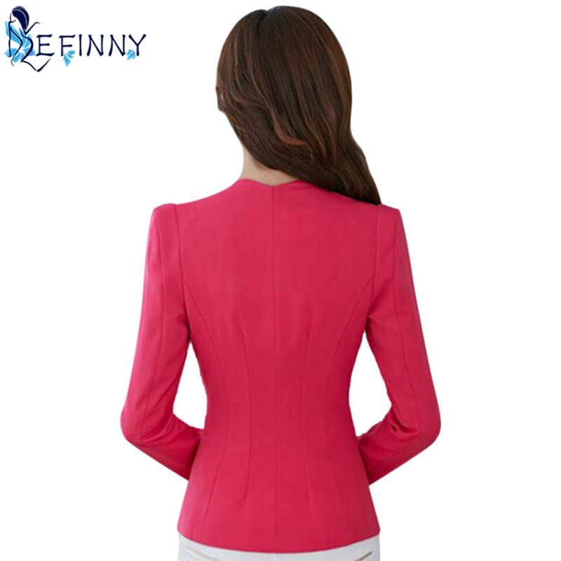 2aa1db3248966 New Female Formal Solid Color Single Button Slim Fashion Office Business  Suit Casual Jacket Women Coat Outwear-in Blazers from Women's Clothing & ...
