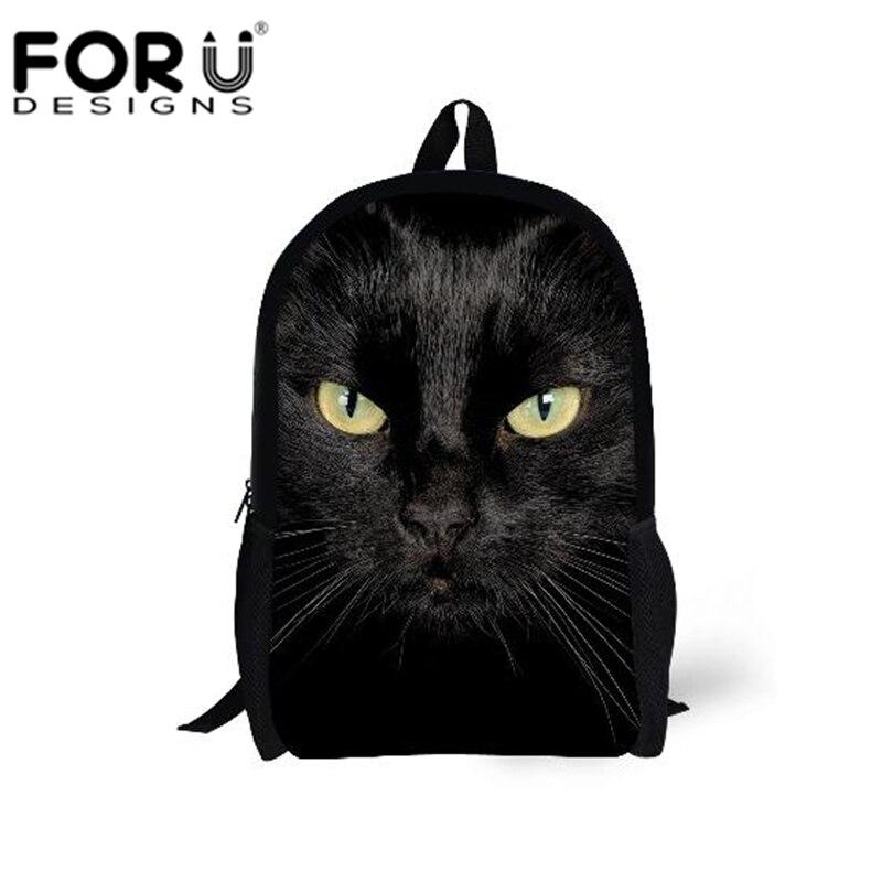 forudesigns 2017 primária mochila gato Tipo de Estampa : Animal