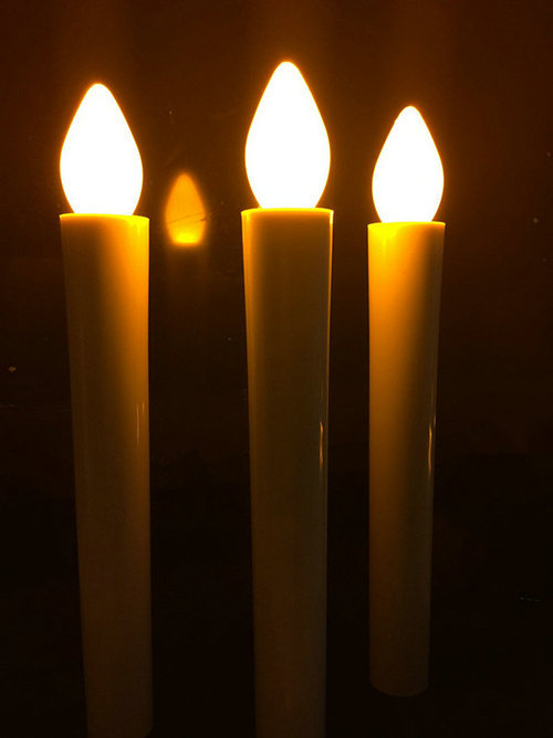 50pcslot flameless battery operated wax dipped led taper candles lights for