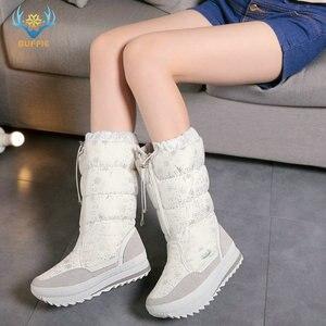 Image 3 - שלג מגפי נשים 2020 חורף מגפי קטיפה נעליים חמות בתוספת גודל 35 כדי גדול 42 קל ללבוש ילדה לבן zip נעלי נשי חם מגפיים