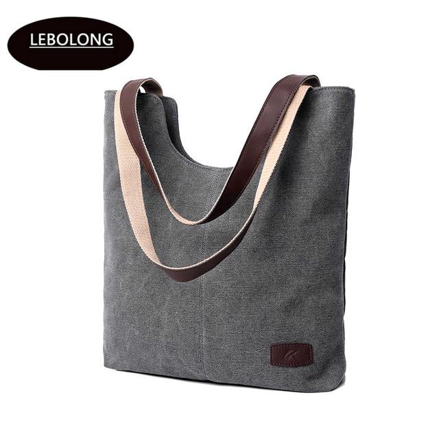 a2200f6c68c4bc Lebolong High Quality Women's Canvas Bag Shopping Bag Foldable Reusable  Grocery Bags Cotton Fabric Eco Tote Bag Wholesale