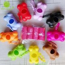 Pet Dog Poop Bag ,1 set include 4 roll (60pcs)  Dog Water Poop Bags and 1 Bone Dispenser Pet Products