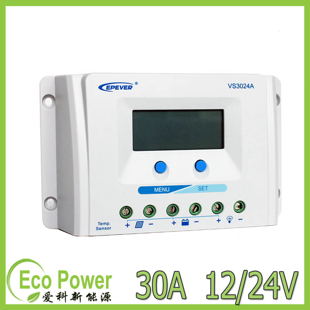 Us 4039 New Epsolar Vs3024a 30amp 12v 24v Pwm Solar Charge Controller Regulator 30a With Lcd Display And Remote Temperature Sensor In Dc Voltage Circuit Smart Controllers From Home