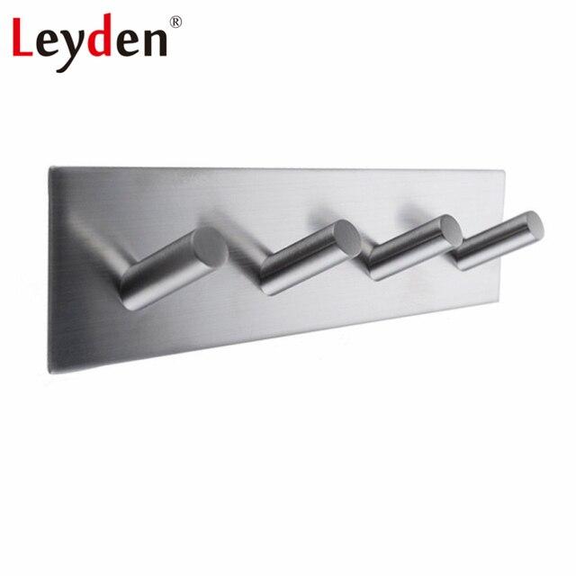 Marvelous Leyden 3M Self Adhesive 304SUS Stainless Steel Brushed Nickel Robe Hooks  Clothes Hooks Towel Hook Hanger