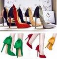 Tamaño grande 40 nueva marca diseño de 2015 mujeres atractivas de la borla de 11 cm de super high heels pump lady elegance mujer zapatos de fiesta