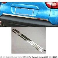 Hot Car cover detector Stainless steel Rear door bottom Tailgate frame plate trim lamp 1pcs For Renault Captur 2015 2016 2017