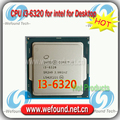 Для Intel Core i3 6320 Процессор 3.9 ГГц/4 МБ Кэш/Dual Core/Socket LGA 1151/Кач Ядро/Desktop I3-6320 ПРОЦЕССОРА
