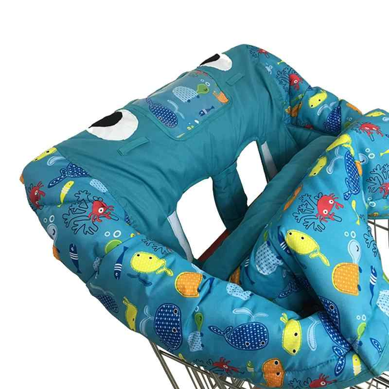 3-في-1 الطفل وسادة عربة لوحة ألعاب الطعام مخدة كرسي الرضع لطيف الكرتون طوي الطفل التسوق عربة طفل مقعد