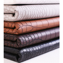 50x138cm 0.8mm Faux PVC leather Fabric Imitation Crocodile Skin Embossed Synthetic Leather for Decoration Sofa Home