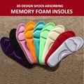 2016 Hot Lady High Heels Men Shoes Women Foot Massage Insole Plantar Fasciitis 4D Design Shock Absorbing Memory Foam Insoles New