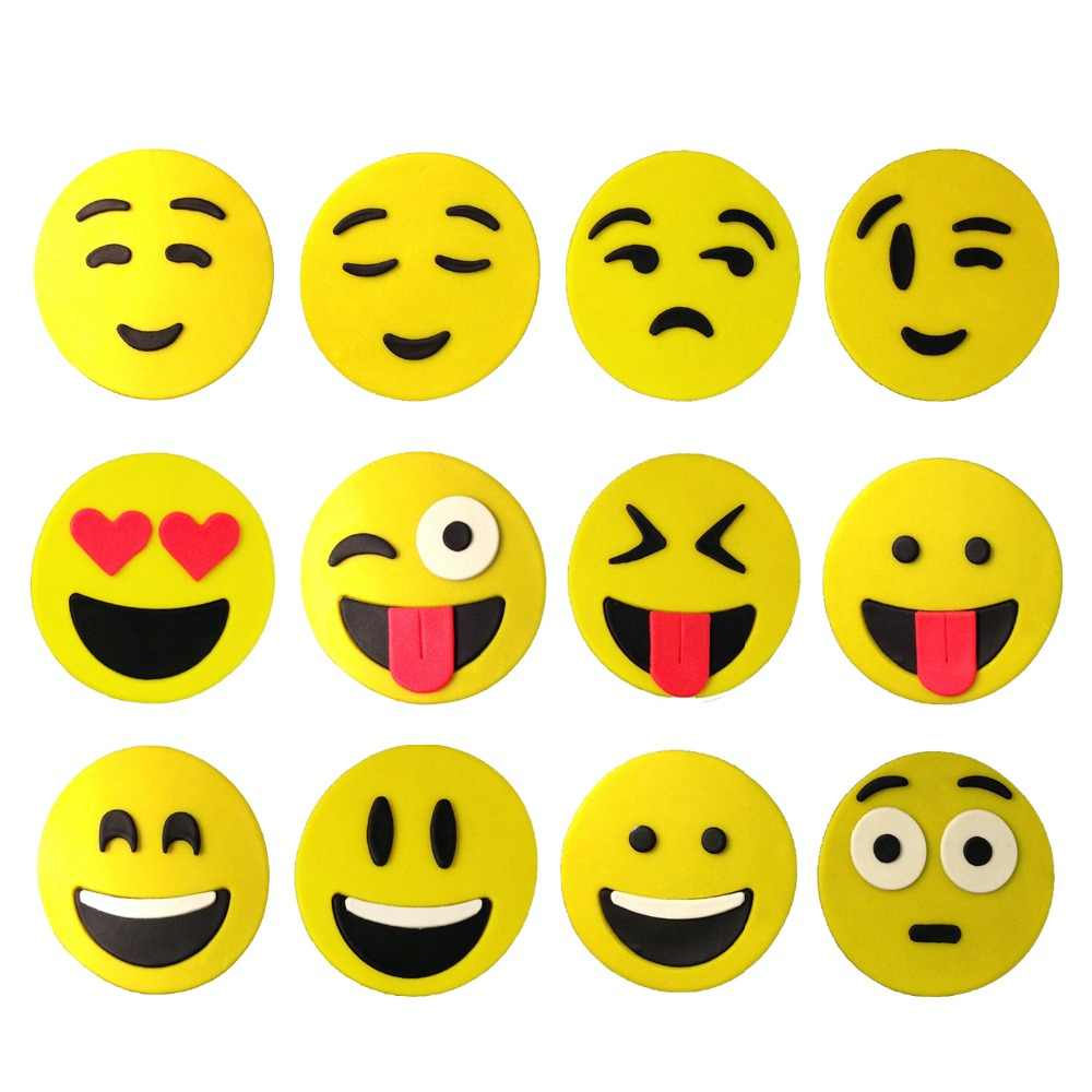 Different Kinds Of Circle Face Emoji Cookie Cutter Kit Fondant Cupcake Topper 3D Printed Cookie Molds Set Cake Decorating Tools