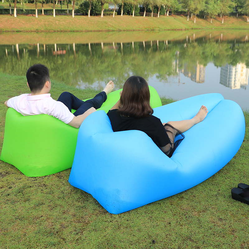 Outdoor camping sofa inflatable sofa sleeping bag nyoln air sofa Beach bed Easy to carry lazy bag inflatable air Lounger couch