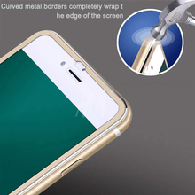 H&A Tempered Glass For iphone 8 6 6S 7 Plus Full Screen Protector 3D Aluminum Alloy For iPhone 6 7 8 Protective glass