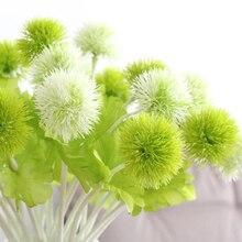 10pcs/lot Artificial Flowers Beautiful Exquisite Dandelion Flower Head Grass Ball Home Garden Wedding Floral Decor