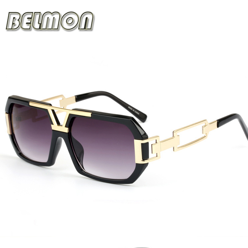 BELMON Fashion Sunglasses Men Women 2018 Luxury Brand Designer Sun Glasses For Male Ladies Gradient UV400 Retro Oculos RS164