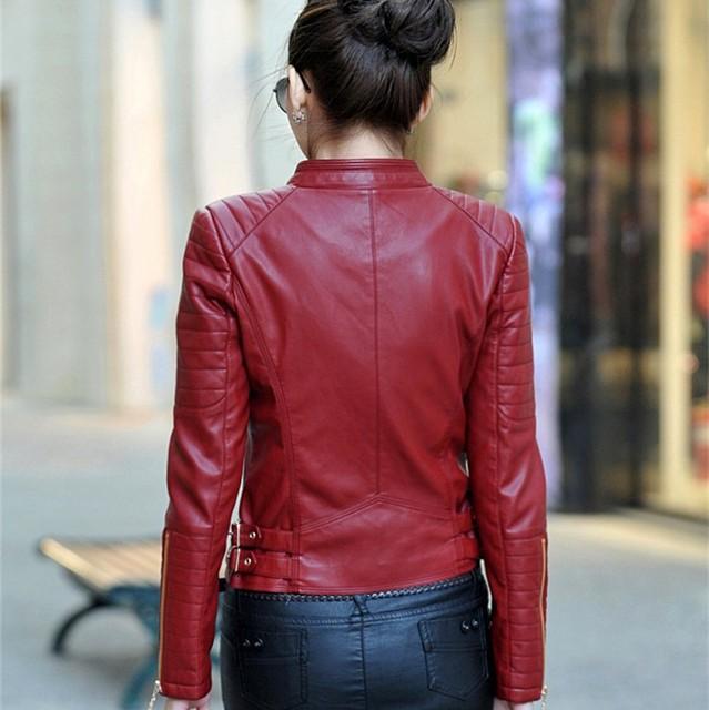 Free shipping 2016 latest faux leather jacket black women motorcycle ladies leather women coat suede coat PU jacket coat