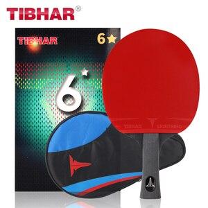 Image 4 - Tibhar פרו טניס שולחן מחבט להב גומי פצעונים פינג פונג מחבטי באיכות גבוהה עם תיק 6/7/ 8/9 כוכבים