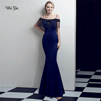 weiyin Robe De Soiree 2018 New Arrivals Luxury Elegant Long Mermaid Crystal Evening Dresses Party Gowns Formal Real Photo WY1018