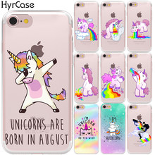 Hippo Rainbow Unicorn Horse Soft TPU Silicon Phone Back Case Cover For Apple iPhone 8 7 6 6S Plus 5S 5 SE X XS Max XR Capa Coque(China)