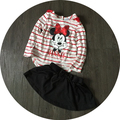 Free Shipping 8sets/lot 1-5T Baby Girl's Minnie T-shirt and Skirts