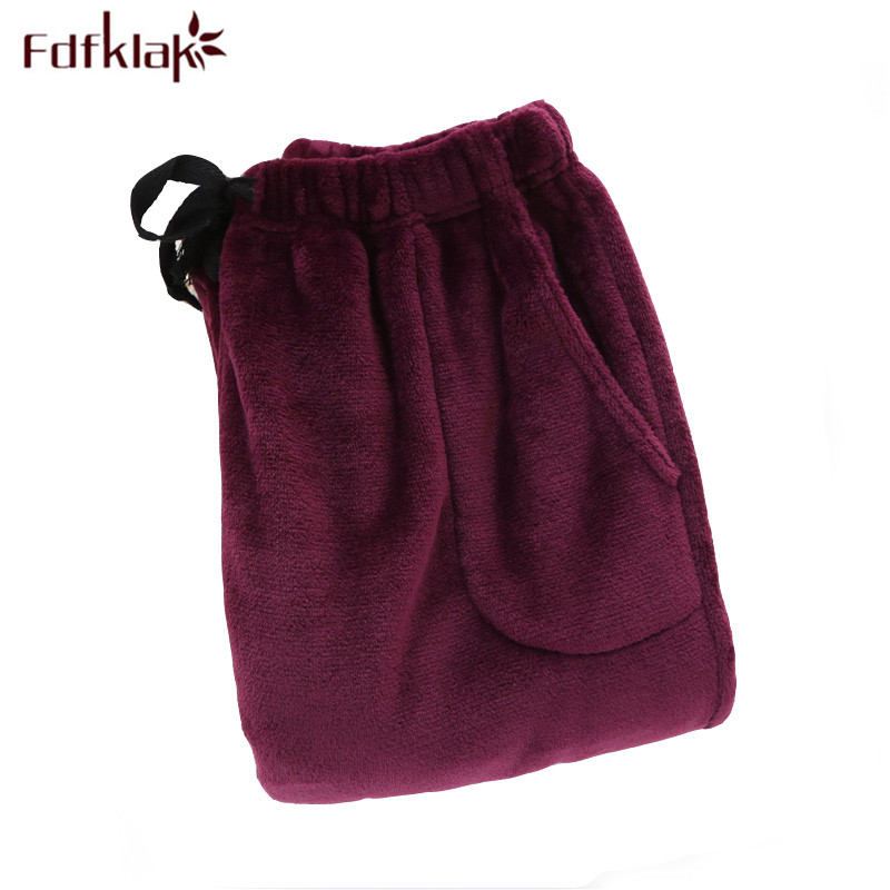 Fdfklak Winter Couple Flannel Thicker Warm Pijama Pants Women Pyjama Trousers Women Pijama Bottoms 10 Styles Sleeping Pant Q519 ...
