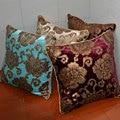 Fashion High Quality Luxury Velvet Flower Soft Bronzing Cushion Home Decor Throw Pillowcase For Sofa Chair 30 45cm P
