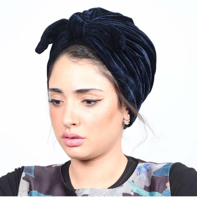 New Women Rabbit Ear Style Soft Velvet Turban Hat Headband Bow Bowknot Cap  Beanie Head Wrap 2f47e4fe147d