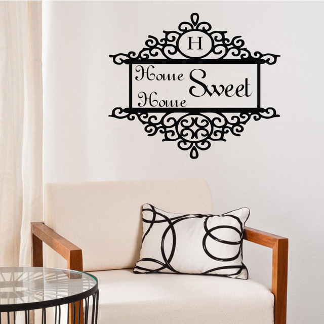 Aliexpresscom Buy EHOME Home Sweet Home Wall Decals Vinyl Door - Vinyl stickers designaliexpresscombuy eyes new design vinyl wall stickers eye wall